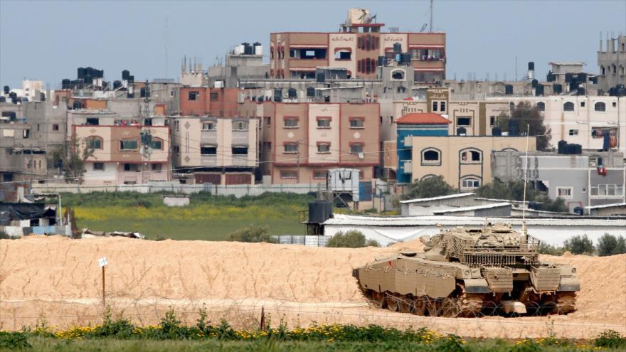 Un tanque israelí modelo 'Merkava' en la asediada Franja de Gaza, 15 de marzo de 2019. (Foto: AFP)