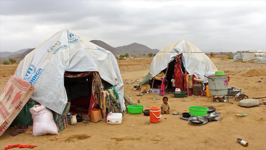 Un niño desplazado yemení en la provincia noroccidental de Hajjah, 6 de marzo de 2019. (Foto: AFP)