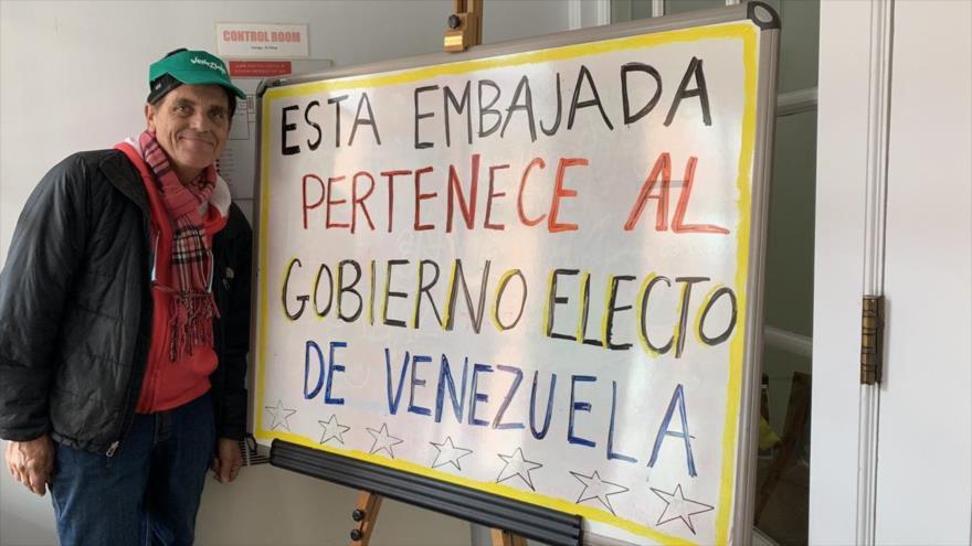 Pernoctan en embajada venezolana en EEUU para impedir su ocupación