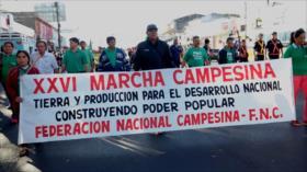 Los campesinos en Paraguay exigen una reforma agraria integral