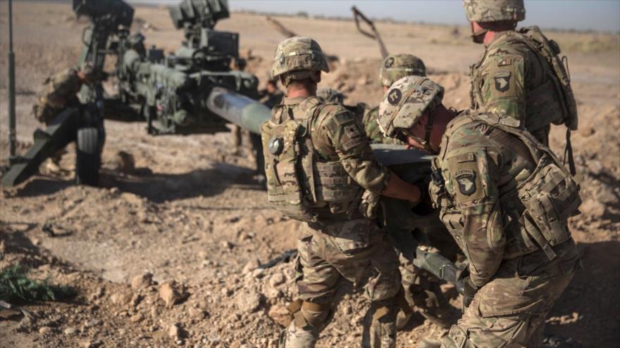 Soldados estadounidenses en el aeropuerto de Bost al sur de la ciudad afgana de Lashkar Gah.