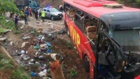 Mueren 70 personas en colisión frontal de dos autobuses en Ghana