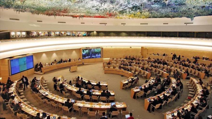 Una sesión del Consejo de Derechos Humanos de las Naciones Unidas (CDHNU) en Ginebra (Suiza).