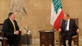 Presidente libanés a Pompeo: Hezbolá cuenta con gran apoyo popular