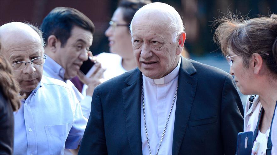 El cardenal Ricardo Ezzati en Santiago de Chile, 23 de marzo de 2019. (foto: AFP)