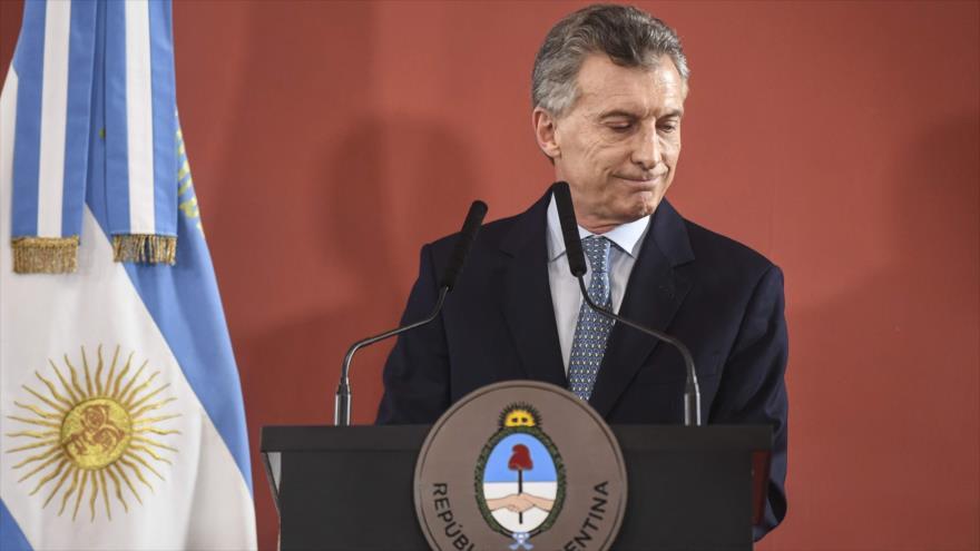 El presidente de Argentina, Mauricio Macri, en la Casa Rosada, Buenos Aires, 27 de septiembre de 2018. (Foto: AFP)