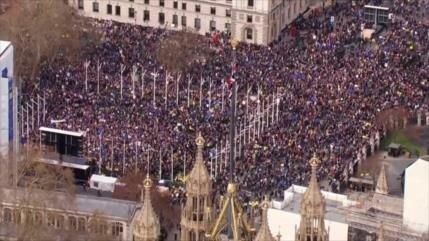 Un millón de personas clama en Londres contra el Brexit