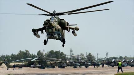Vídeo: Rusia prueba su nuevo helicóptero con terroristas en Siria