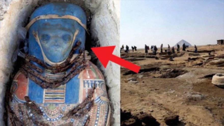 Hallan en Egipto una momia con una imagen de un extraterrestre.