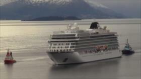 Crucero Viking Sky llega a puerto en Noruega tras horas de pánico