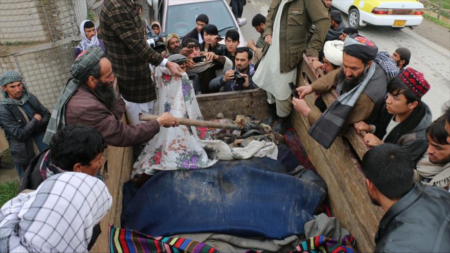 Víctimas del ataque aéreo de EE.UU. en la provincia afgana de Kunduz, 23 de marzo de 2019. (Foto: Reuters)