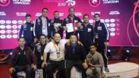 Luchadores iraníes ocupan 1.º lugar en Campeonato Asiático Sub 23