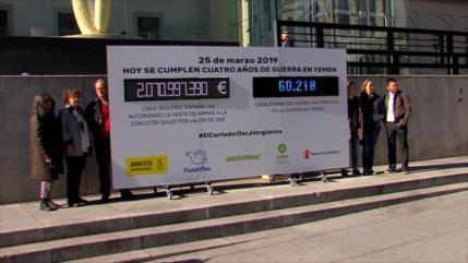 En España exigen el fin de exportación de armas a Riad