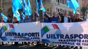 Huelga general de principales compañías aéreas italianas