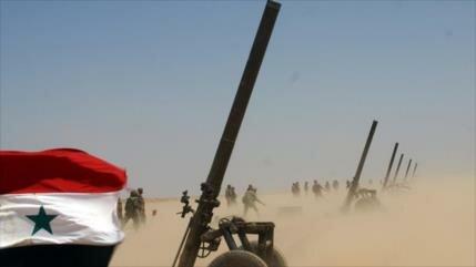 Ejército sirio destruye escondites de terroristas en Hama