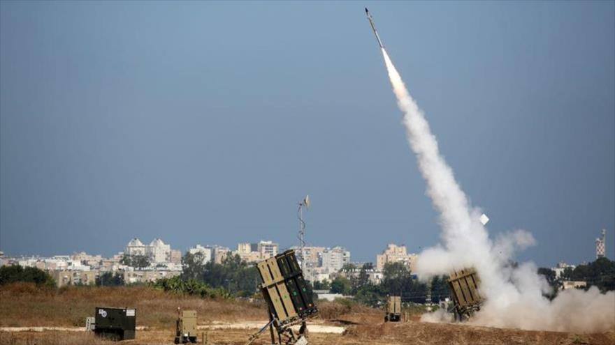 Baterías del sistema antimisiles Cúpula de Hierro desplegados en los territorios ocupados palestinos.