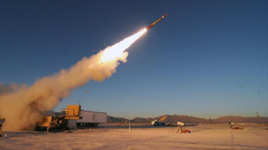 Una prueba de un misil de largo alcance del Ejército de EE.UU.