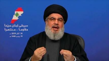 Nasralá: Nos da placer que el gran satán esté molesto con nosotros
