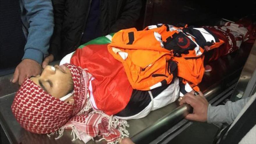 Sajed Abed al-Hakim Mizher, el paramédico asesinado por soldados israelíes, 27 de marzo de 2019.