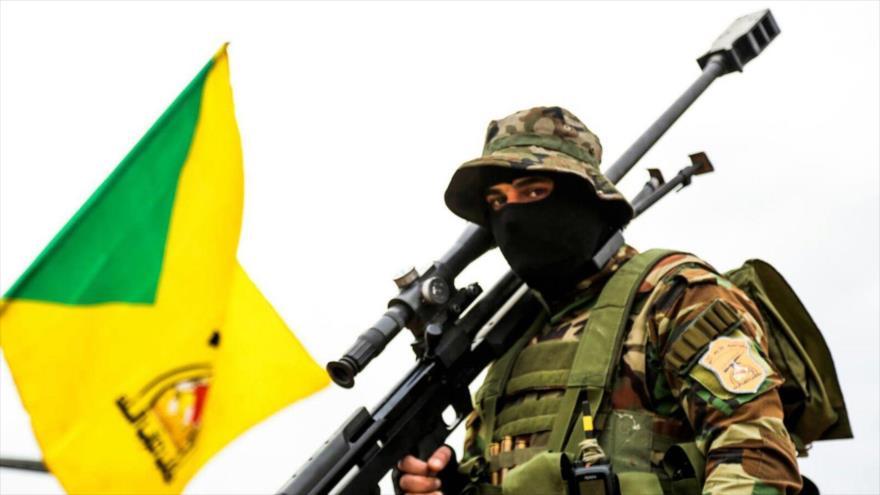 Un francotirador del Movimiento de Resistencia Islámica de Irak (Kataib Hezbolá).