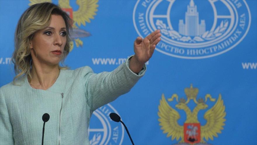 La portavoz de la Cancillería rusa, María Zajarova.