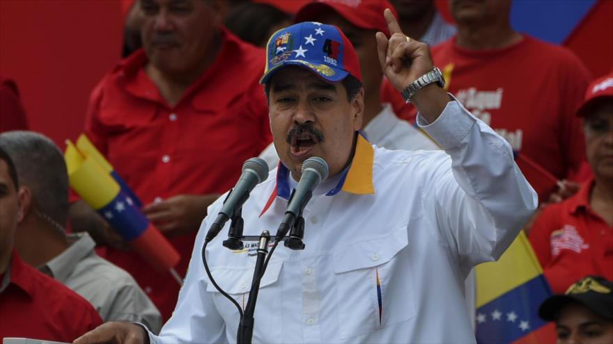 El presidente de Venezuela, Nicolás Maduro, durante un evento en Caracas, la capital venezolana, 23 de marzo de 2019. (Fuente: AFP)