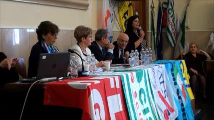 Protestas contra el Gobierno en el sector educativo italiano
