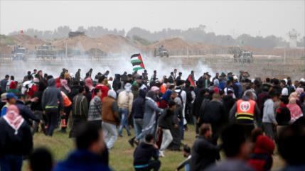Palestinos conmemoran el Día de la Tierra con masivas marchas