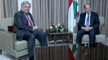 Aoun pide a la ONU impedir agresiones de Israel a El Líbano