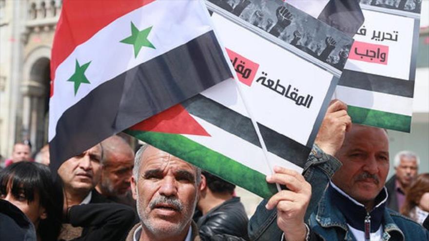 Tunecinos rechazan ocupación israelí en Palestina y Golán   HISPANTV