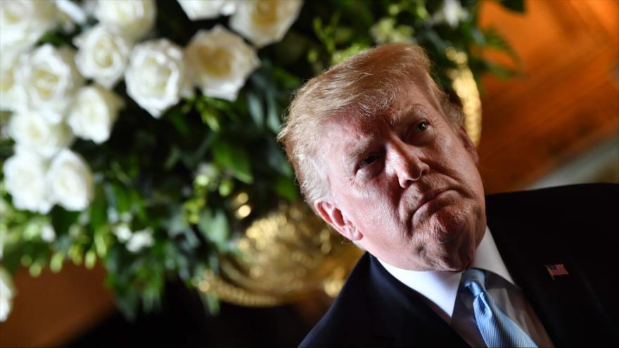 El presidente de EE.UU., Donald Trump, durante una rueda de prensa en Florida (sureste), 29 de marzo de 2019. (Foto: AFP)