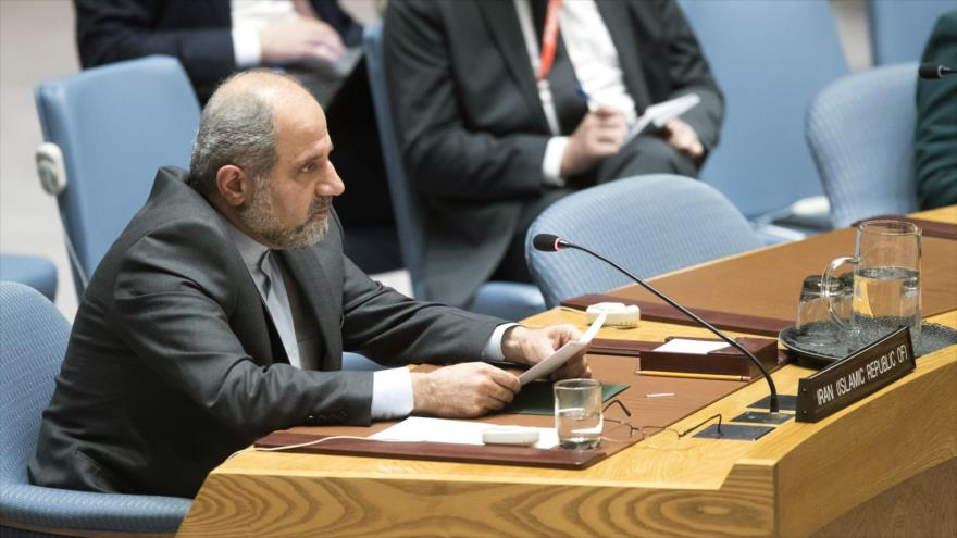 El embajador adjunto de Irán ante la Organización de las Naciones Unidas (ONU), Eshaq Al Habib.