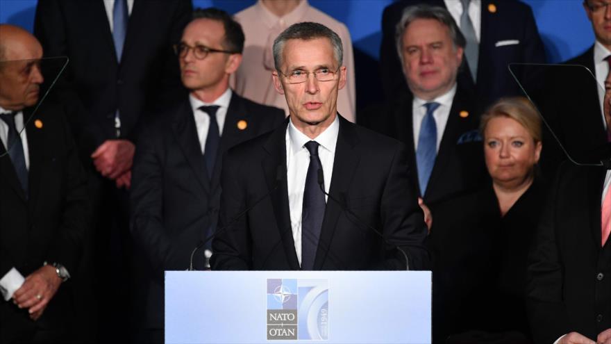 El secretario general de la OTAN, Jens Stoltenberg, habla ante el Congreso de EE.UU., Washington D.C., 3 de abril de 2019. (Foto: AFP)