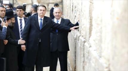 Oposición: Política proisraelí de Bolsonaro no representa Brasil