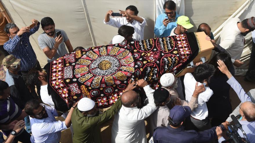 Funeral de una de las víctimas del atentado contra la mezquita Al Noor en la ciudad de Christchurch, Nueva Zelanda, 25 de marzo de 2019. (Foto: AFP)