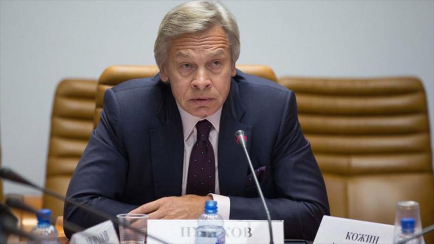 El senador ruso Alexéi Pushkov.