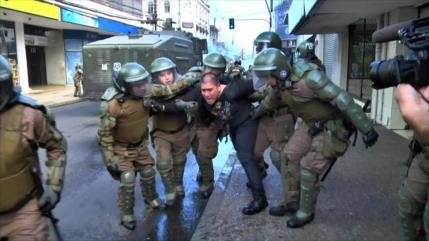 Gobierno chileno reprime nueva marcha mapuche