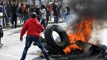 Vídeo: Protestas gubernamentales en Sudáfrica