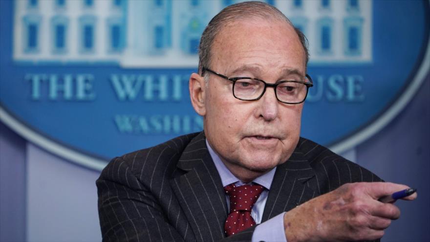 El director del Consejo Económico de la Casa Blanca, Larry Kudlow, en una rueda de prensa en Washington D.C., 28 de enero de 2019. (Foto: AFP)