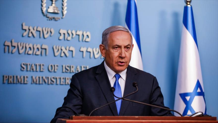 El primer ministro de Israel, Benjamín Netanyahu, ofrece una conferencia de prensa en Al-Quds (Jerusalén), 3 de abril de 2019. (Foto: AFP)