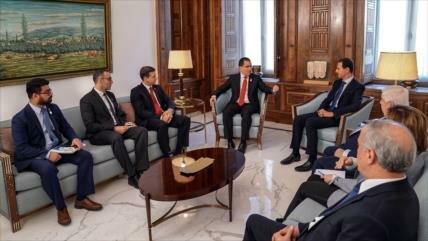 Canciller de Venezuela se reúne con Al-Asad en Damasco
