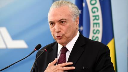 Michel Temer rechaza las denuncias de corrupción en su contra