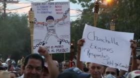 Protesta en Honduras contra Juan Orlando Hernández