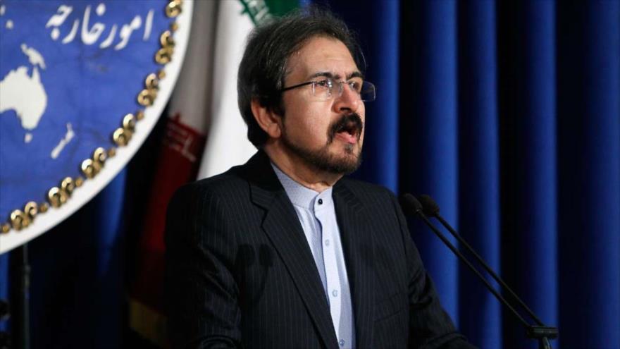 El portavoz de la Cancillería de Irán, Bahram Qasemi, en una conferencia de prensa en Teherán.