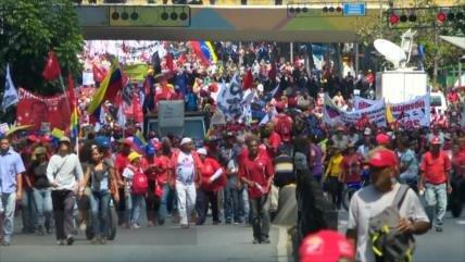 Otra demostración de fuerza del chavismo en defensa de Maduro