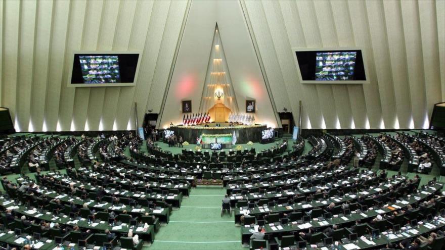 Una sesión plenaria del Parlamento iraní con sede en Teherán, la capital persa.