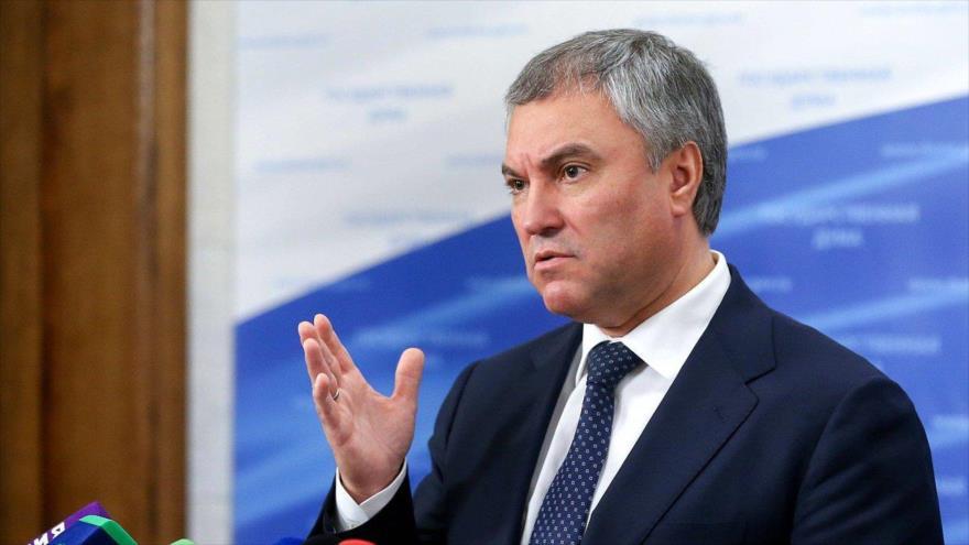 El presidente de la Duma (Cámara Baja del Parlamento) de Rusia, Viacheslav Volodin.