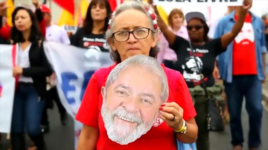 Miles de brasileños piden liberación inmediata de Lula da Silva