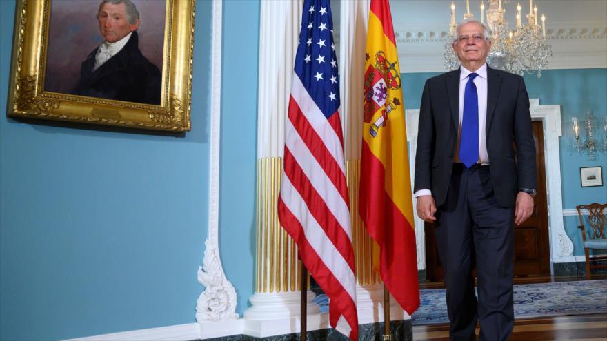 El canciller de España, Josep Borrell, Washington, EE.UU., 1 de abril de 2019. (Foto: AFP)