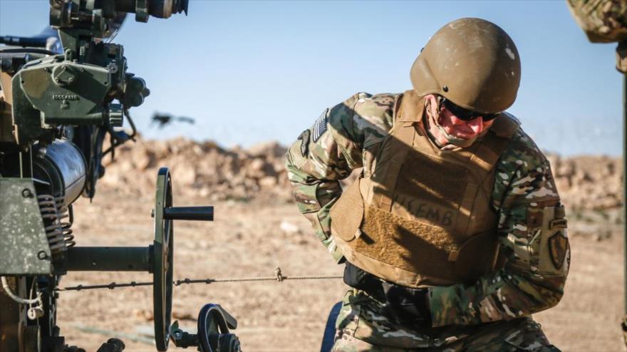 El exjefe del Comando Central de EE.UU. (Centcom), Joseph Votel, durante una misión en Irak, 18 de enero de 2019.